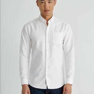 Frank & Oak The Jasper Oxford Shirt Size M Tall